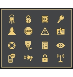Security and warning icons vector