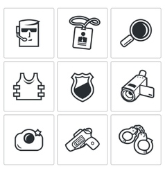 Security Service icons set vector
