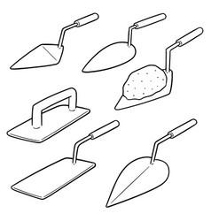 set trowel vector image