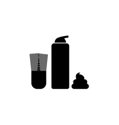 shaving accessories icon bathroom and sauna vector image