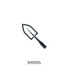 Shovel icon simple gardening element symbol vector