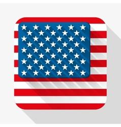 Simple flat icon USA flag vector