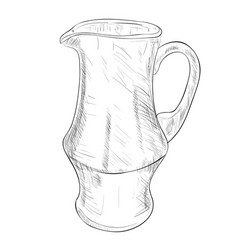 sketch of jug vector image