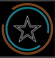 star symbol rating or award shape success vector image