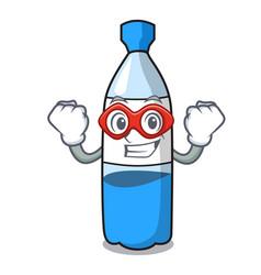 super hero water bottle character cartoon vector image