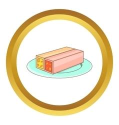 Turkish sweets icon vector
