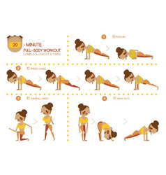 Twenty Minute full body workout vector