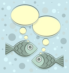 Two fishes vector