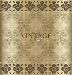 Vintage background with golden vintage label vector image