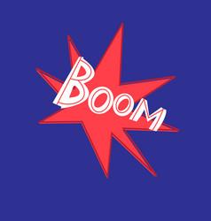 word handwritten boom on red vector image