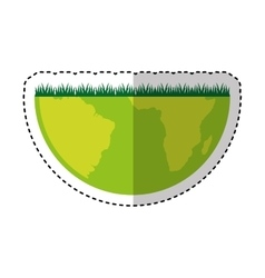 world planet earth with grass vector image
