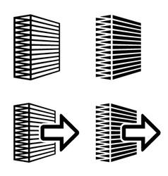 air filter black symbol vector image vector image