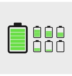 Battery Icons Set vector image vector image