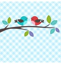 couple of birds vector image vector image