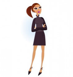 modern businesswoman vector image