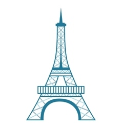 tower eiffel isolated icon design vector image