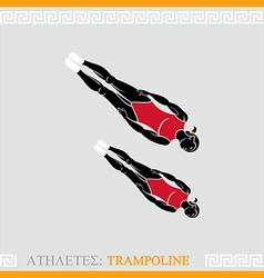 Athlete trampoline gymnast vector