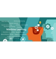 machine learning algorithm concept with related vector image vector image