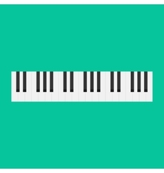 Piano keys isolated musical vector image vector image