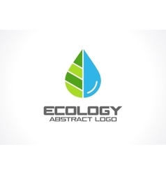 Abstract logo for business company Eco nature vector image vector image