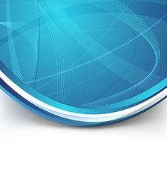 Blue border swoosh wave line modern background vector image vector image