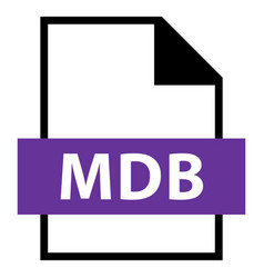 file name extension mdb type vector image