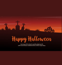 background happy halloween scenery silhouettes vector image