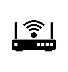 router icon vector image vector image
