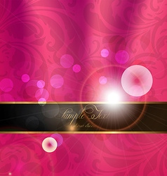 Seamless pink floral spring wallpaper with banner vector