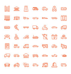 49 car icons vector image