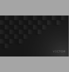 abstract geometric texture background black paper vector image