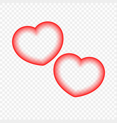 abstract heart isolated background vector image