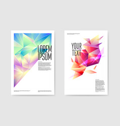 abstract posters triangular design geometric vector image