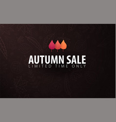 autumn banner with leaves for shopping sale promo vector image