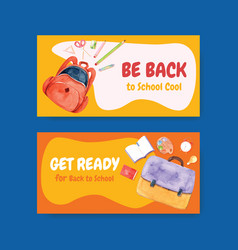 Back to school and education concept with twitter vector