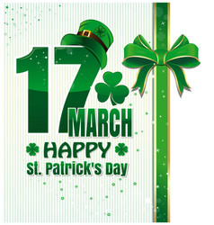 background for happy st patricks day celebration vector image