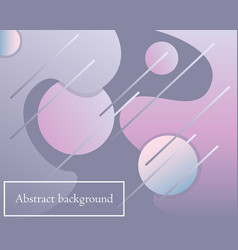 background with gradient modern shapes vector image
