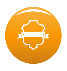 badge guardian icon orange vector image