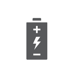 battery icon on white background vector image