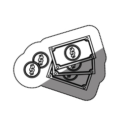 Billets and coins vector