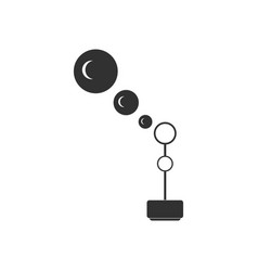 Black icon on white background bubble stick vector