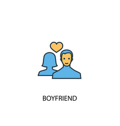 boyfriend concept 2 colored icon simple blue vector image