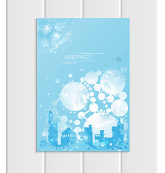 Brochure a5 or a4 format design christmas urban vector
