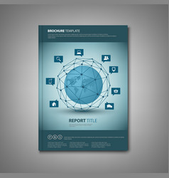 brochures book or flyer with abstract network vector image