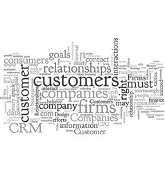 Build customer experiences not relationships vector