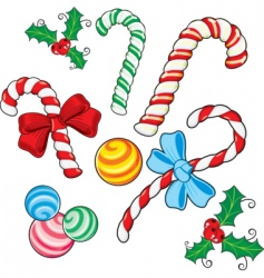 candy canes vector image