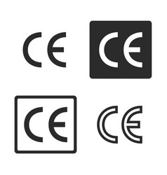 Ce mark symbol set vector