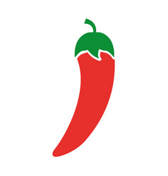 Chilli pepper fresh vegetable icon vector