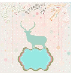 Christmas background card template EPS 8 vector image