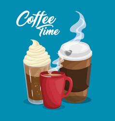 Coffee drinks design vector